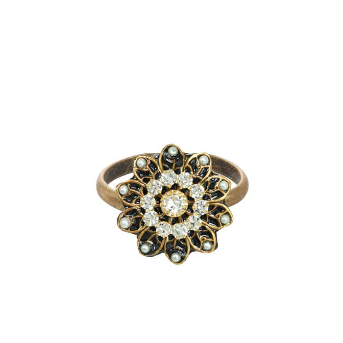 Art Deco Flower Ring