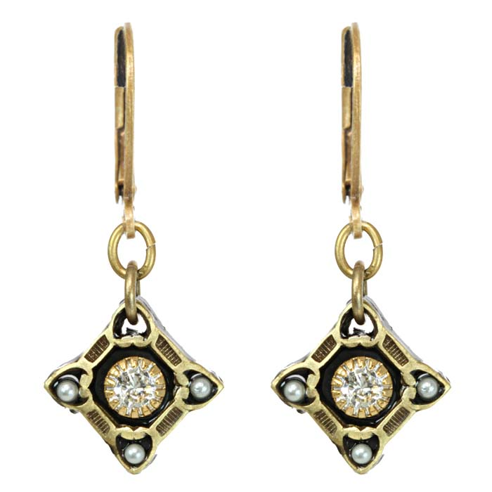 Art Deco Small Diamond Earrings