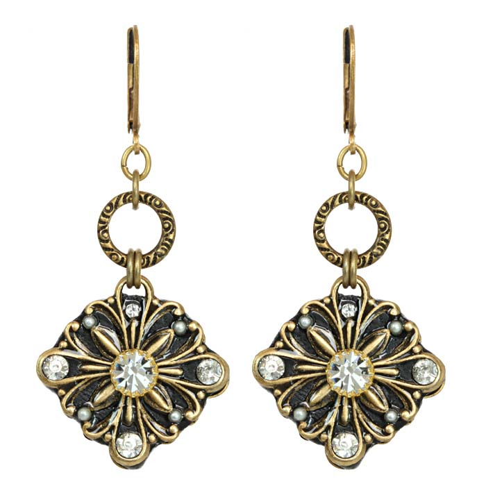 Art Deco Dangling Diamond Earrings