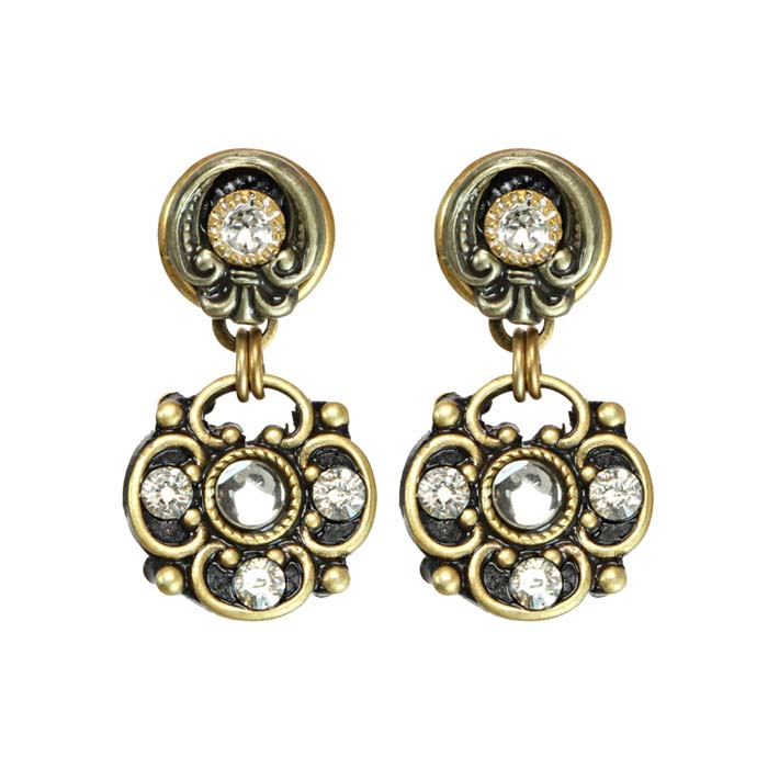 Art Deco Double Circle Earrings