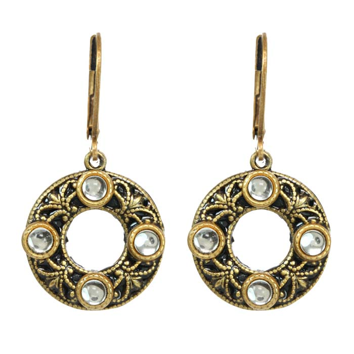 Art Deco Open Circle Earrings