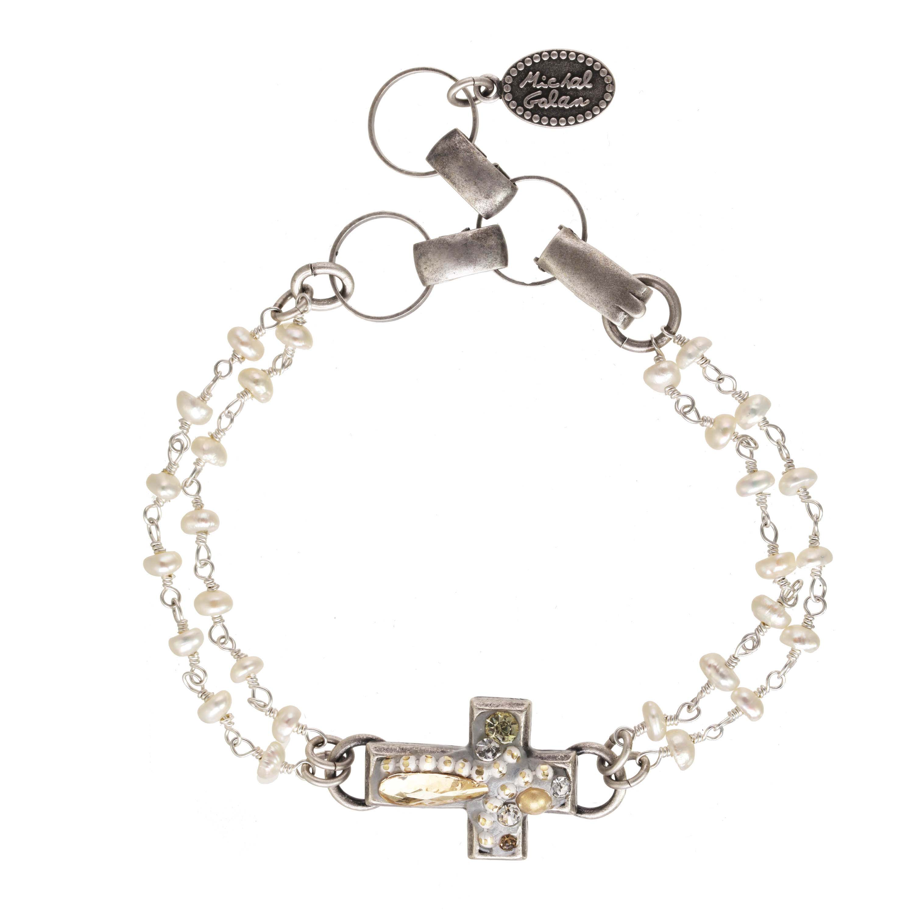 Moonlight Cross Bracelet