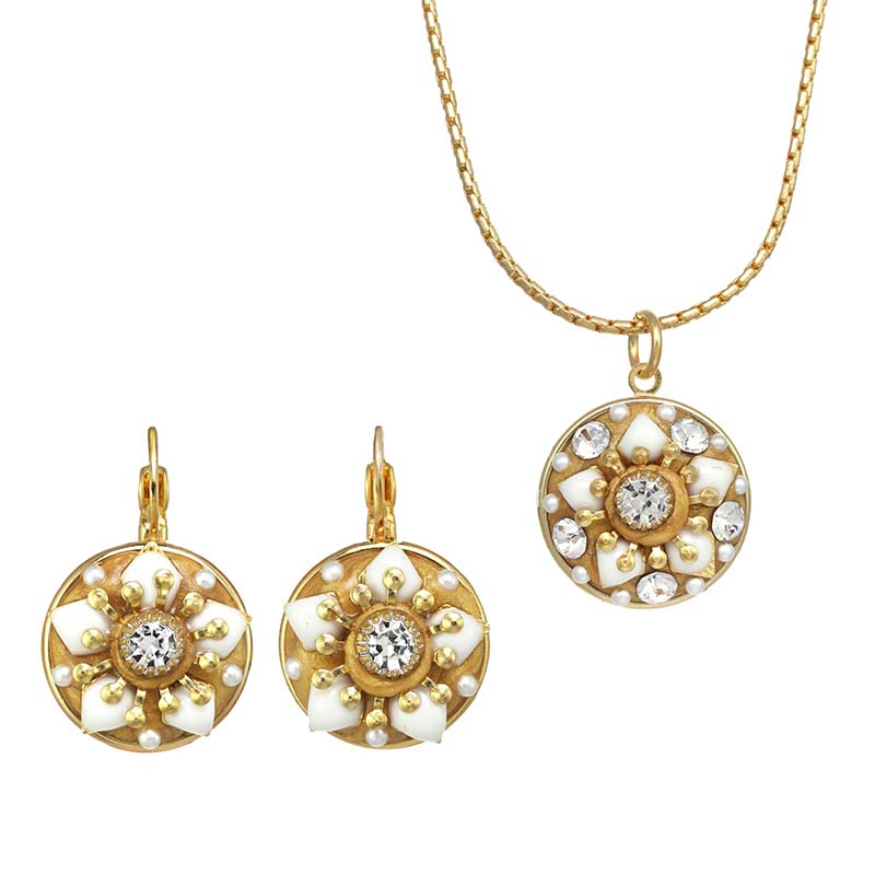 Summer Glow Necklace & Earrings Set