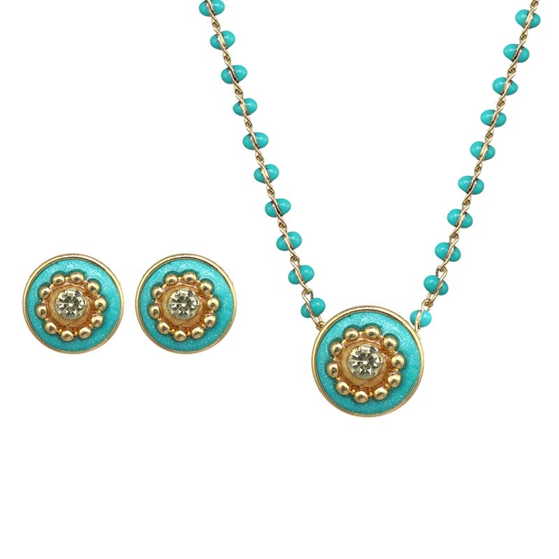 Gumdrop Necklace and Earring Set