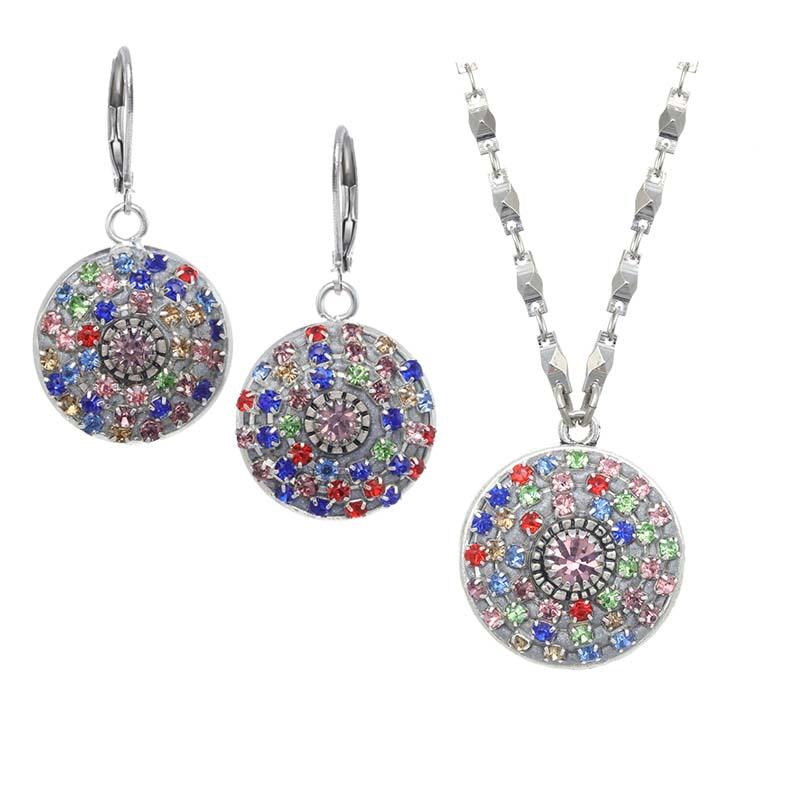 Glitter Necklace & Earrings Set