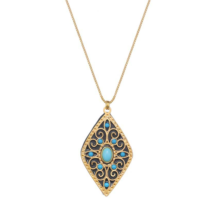 Turquoise Arabesque Necklace