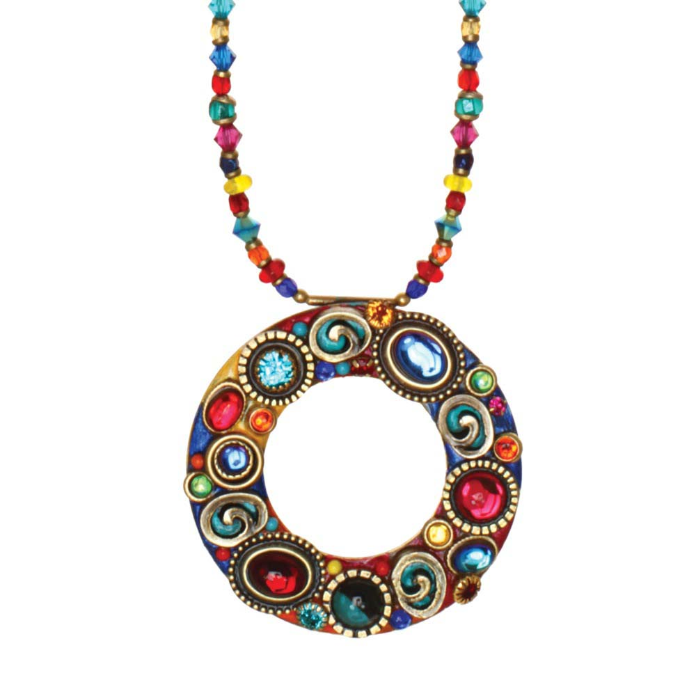 Confetti Open Circle Beaded Necklace