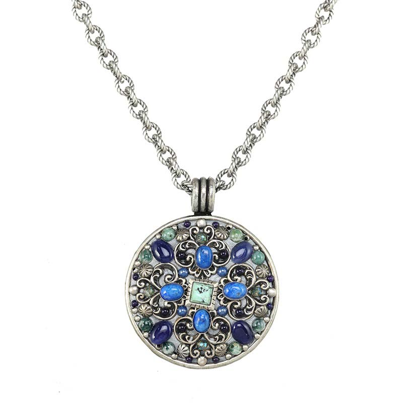 Lake Como Large Medallion Necklace