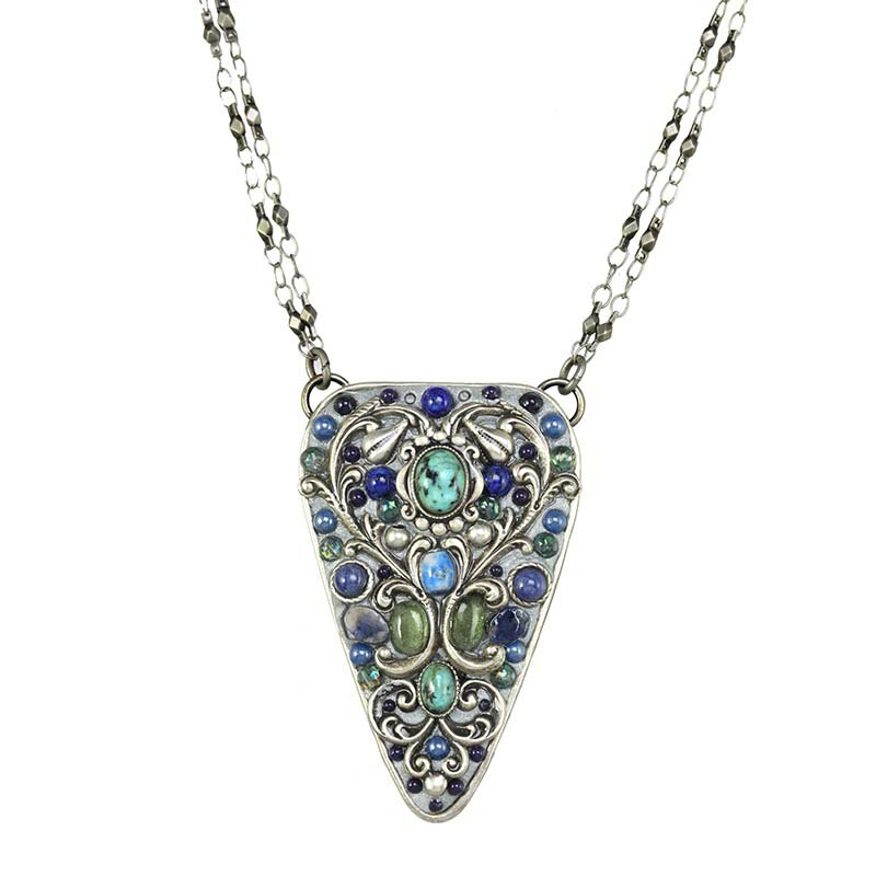 Lake Como Triangle Necklace