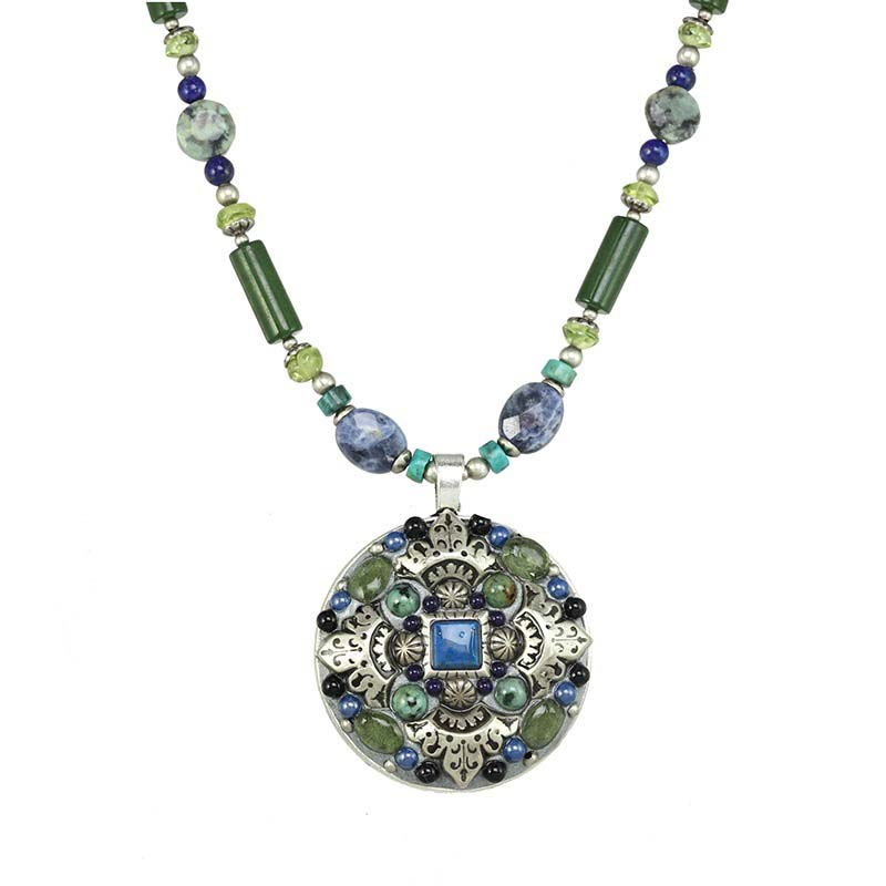 Lake Como Beaded Circle Necklace