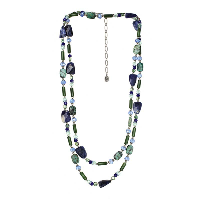 Lake Como Long Beaded Layered Necklace