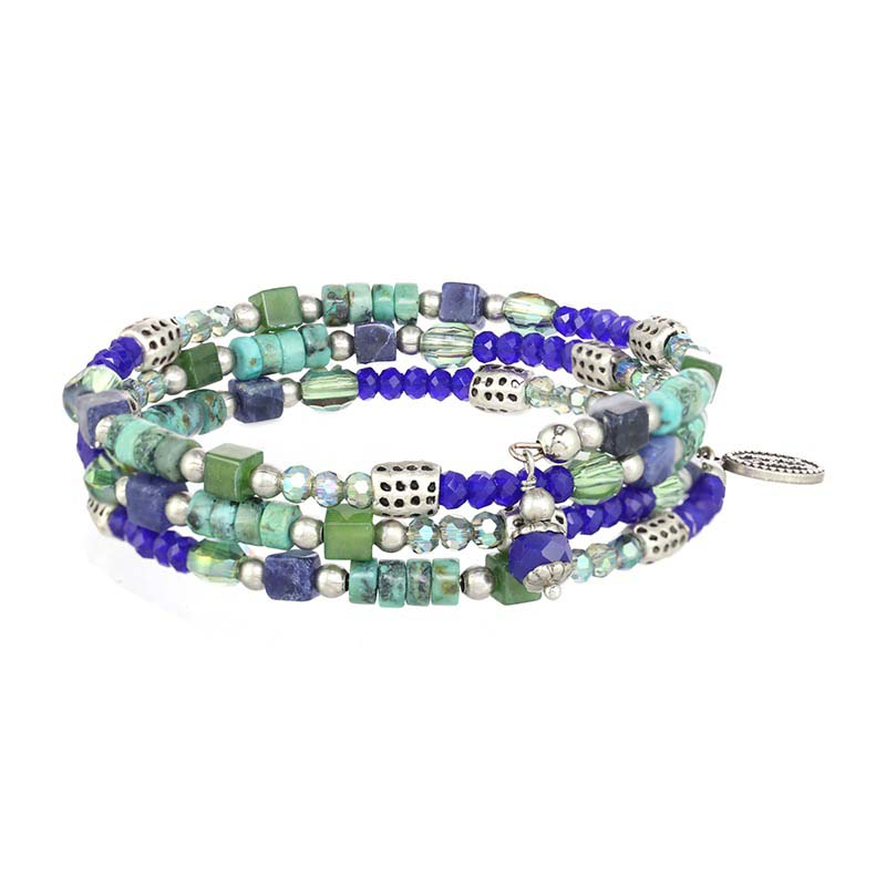Lake Como Thin Beaded Bracelet