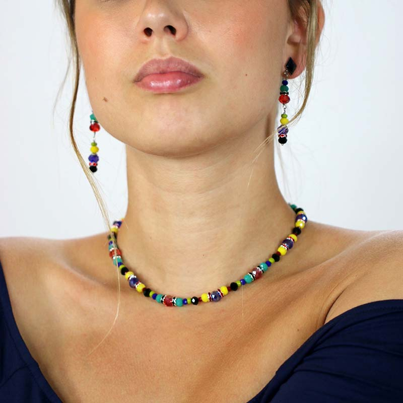 Harvest Beaded Necklace and Earrings Set
