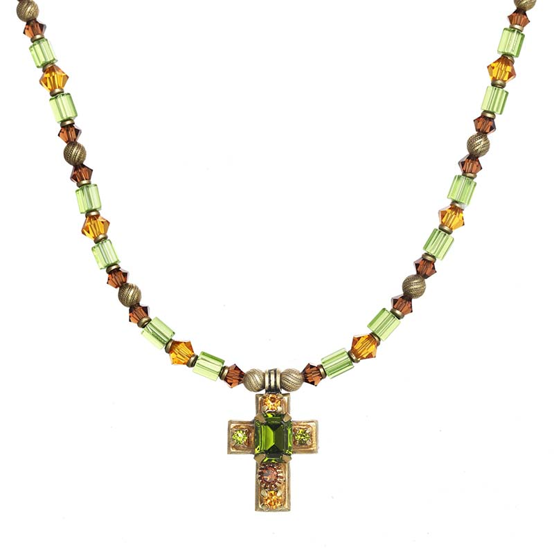 Arcadia Cross Beaded Necklace