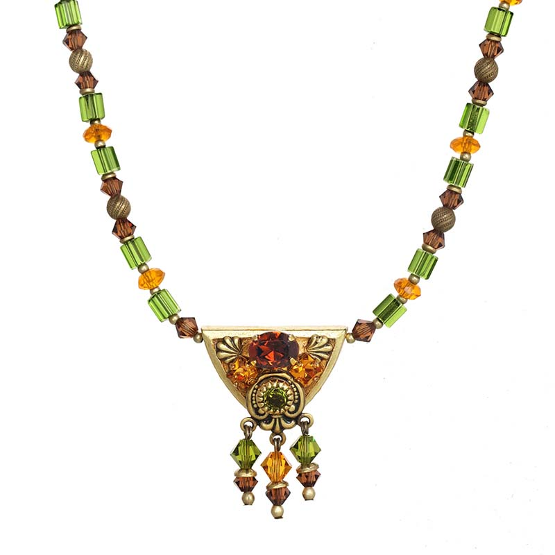 Arcadia Triangle Beaded Necklace