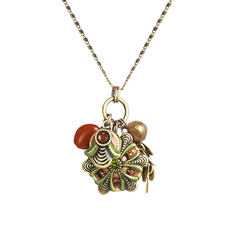 Arcadia Round Charm Necklace