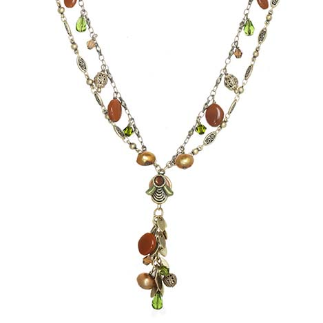 Arcadia Beaded Charm Necklace