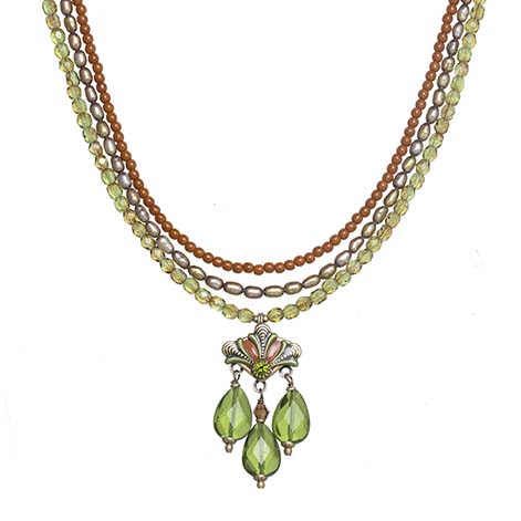 Arcadia Long Beaded Charm Necklace