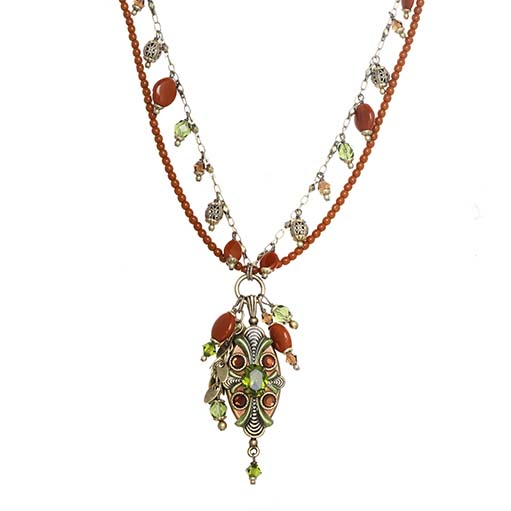 Arcadia Double Beaded Charm Necklace