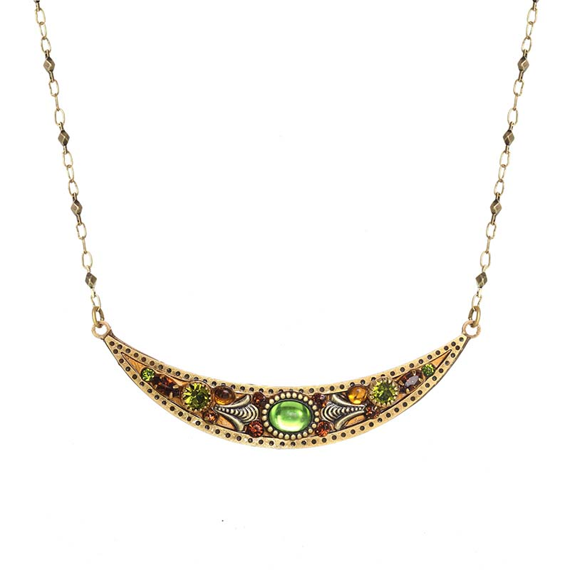 Arcadia Thin Crescent Necklace