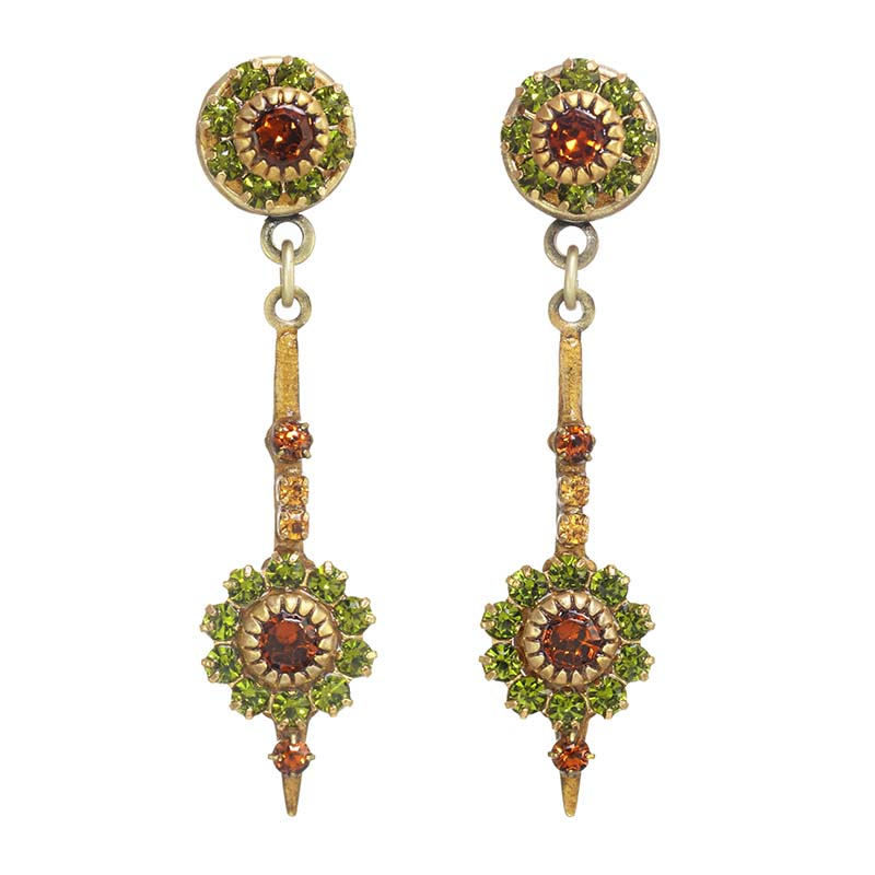 Arcadia Flower Spike Earrings