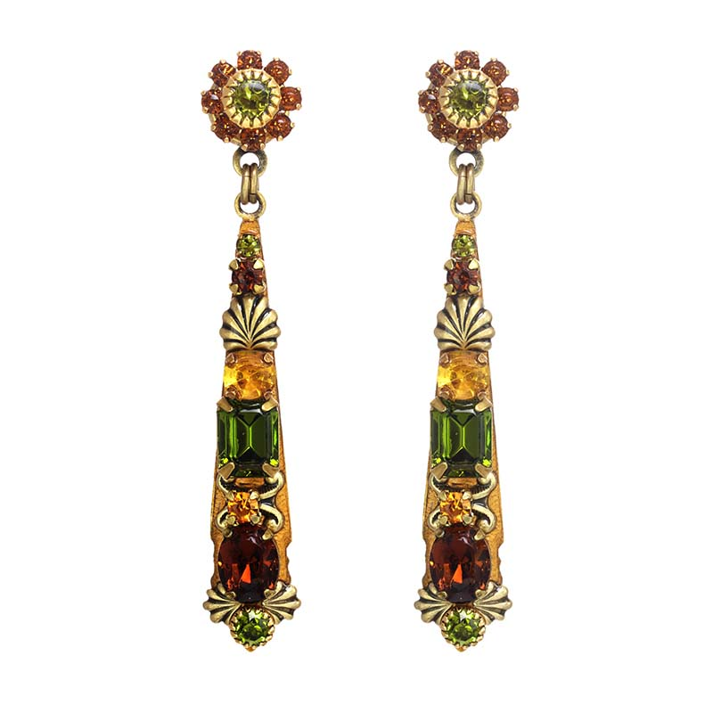 Arcadia Long Floral Earrings