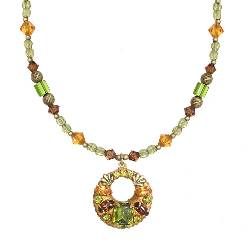Arcadia Open Circle Beaded Necklace