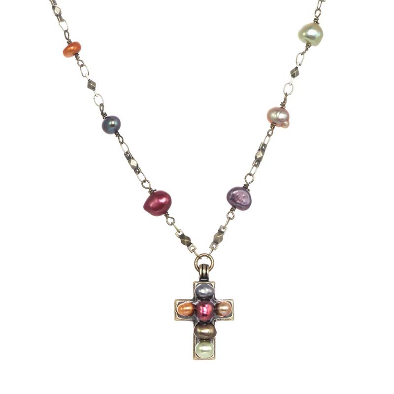Sunset Cross Necklace
