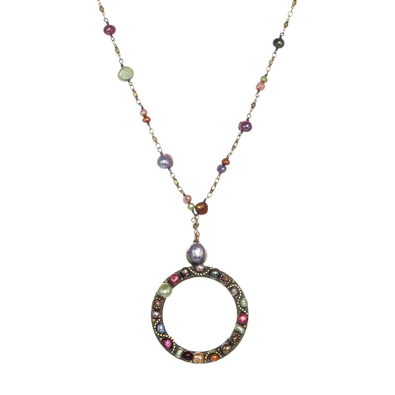 Sunset Open Circle Necklace