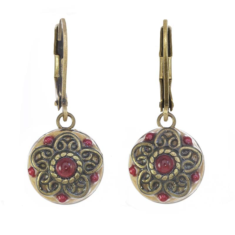 Garnet Renaissance Earrings