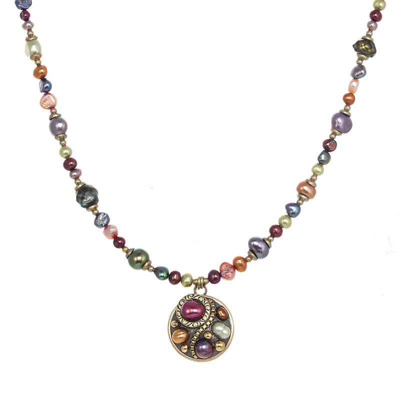 Sunset Circle Beaded Necklace