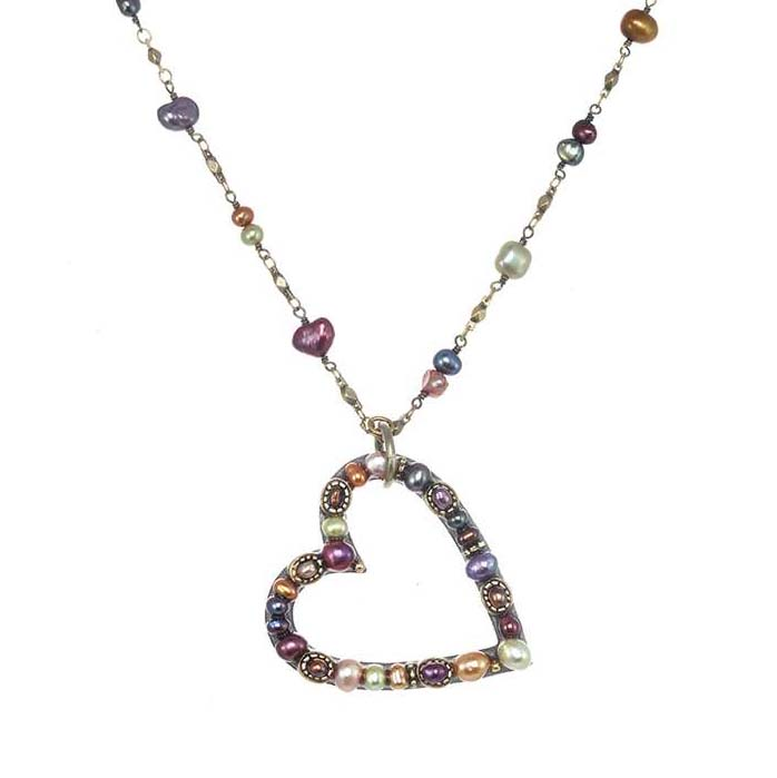 Sunset Open Heart Necklace
