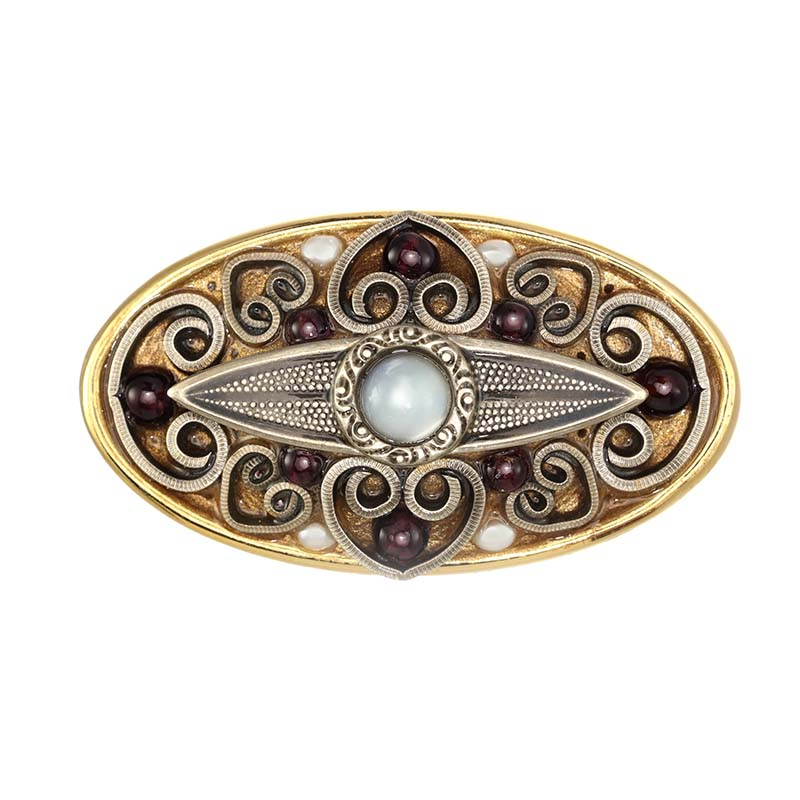 Mother of Pearl Oval Brooch