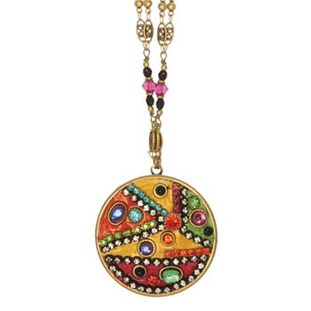 Colorful Mosaic Circle Necklace