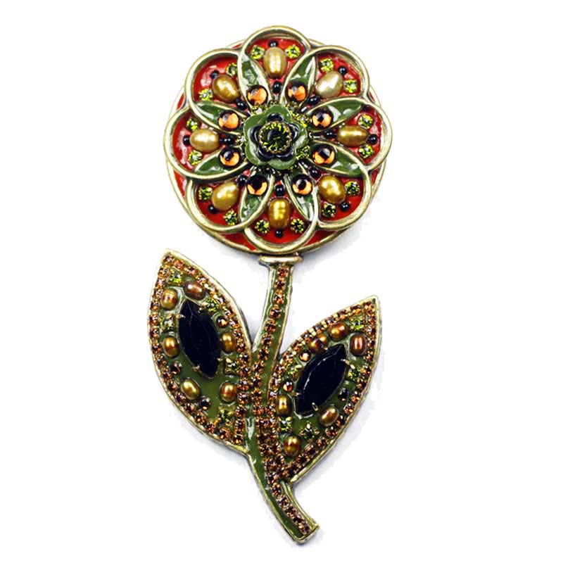 Autumnal Flower Brooch