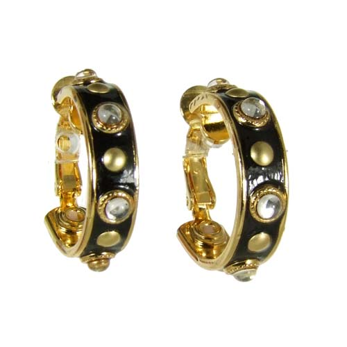 Starry Hoop Clip Earrings