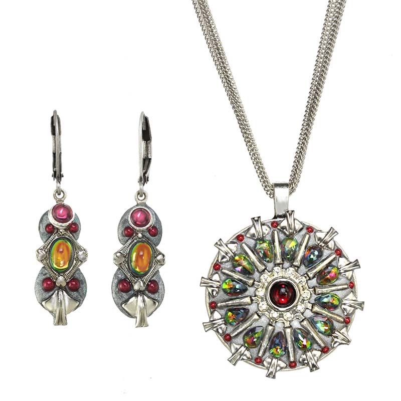 Garland Necklace and Earrings Set