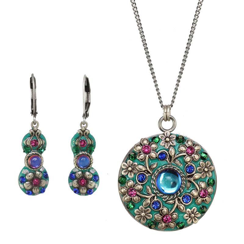 Mermaid's Garden Necklace and Earrings Set