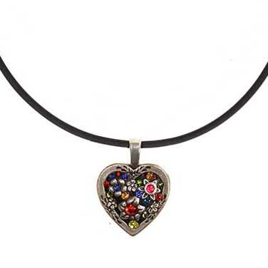 Prism Heart Choker Necklace