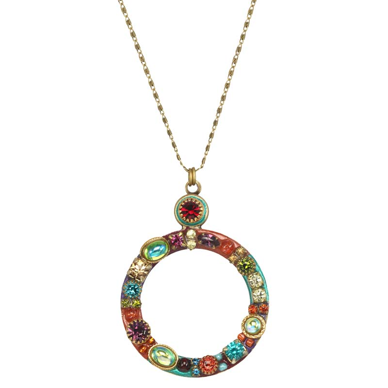 Multibright Open Circle Necklace