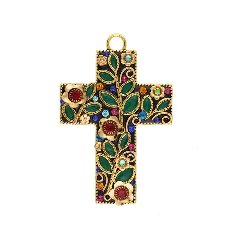 Midsummer Floral Wall Cross