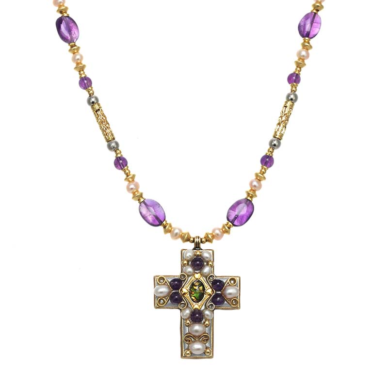 Amethyst Cross Necklace