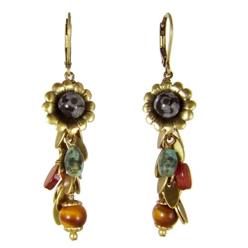Durango Flower Charm Earrings