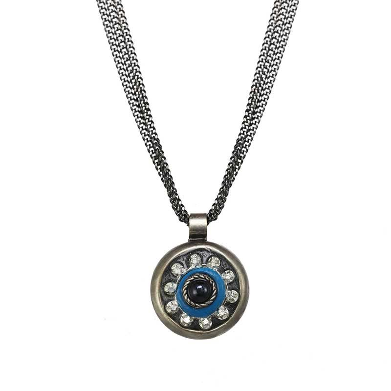 Deep Blue Dot Necklace