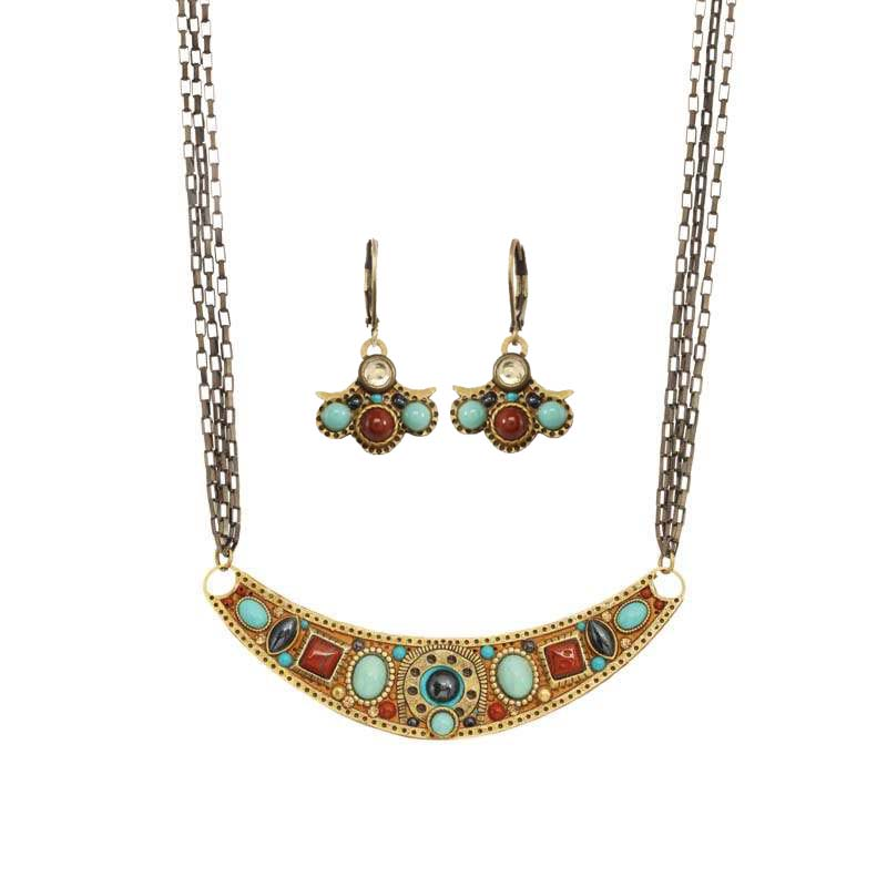 Southwest Necklace and Earrings Set