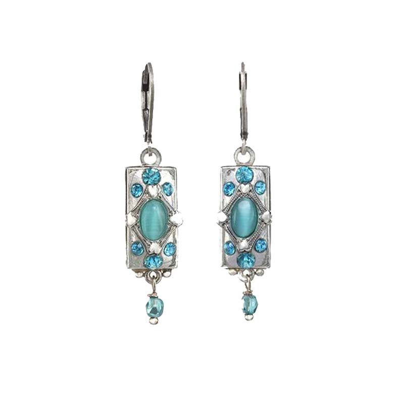 Cat's Eye Bar Earrings