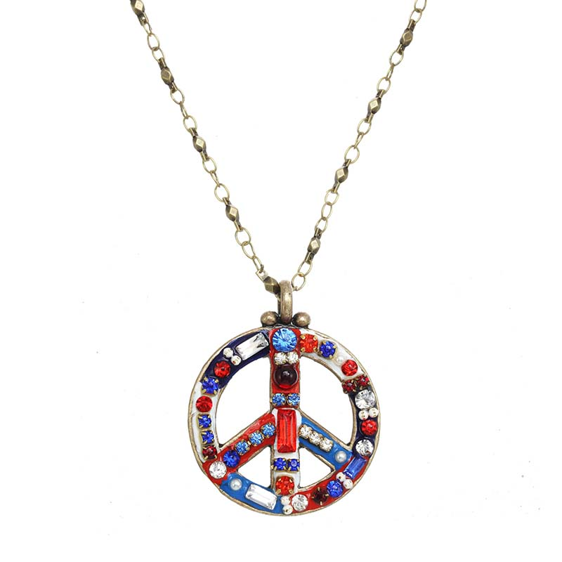 4th of July Peace Sign Necklace