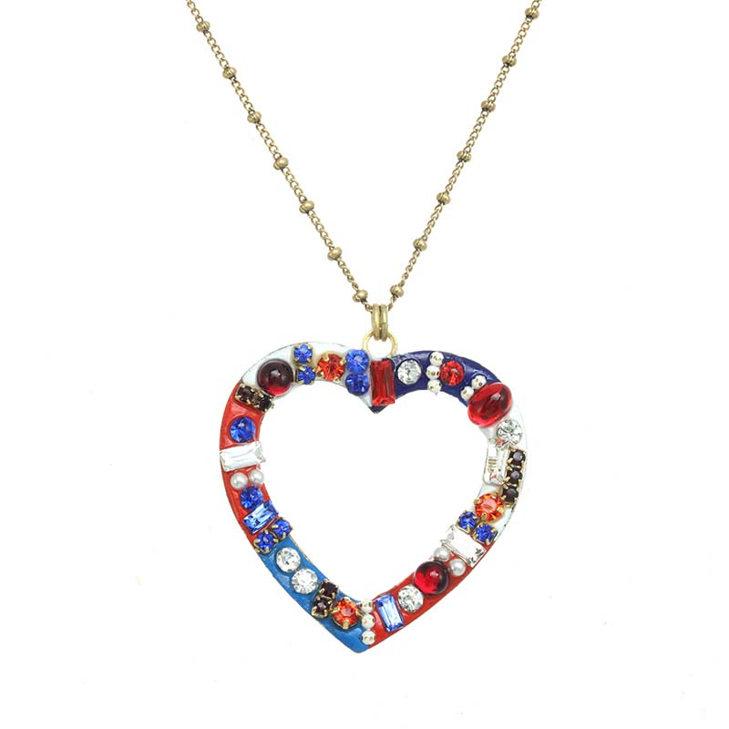 4th of July Heart Necklace