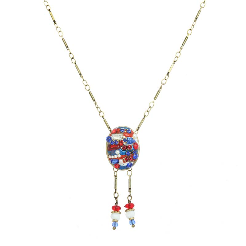 4th of July Oval Necklace