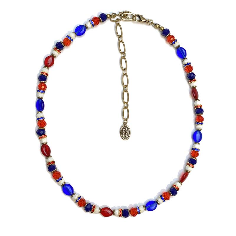 4th of July Beaded Necklace